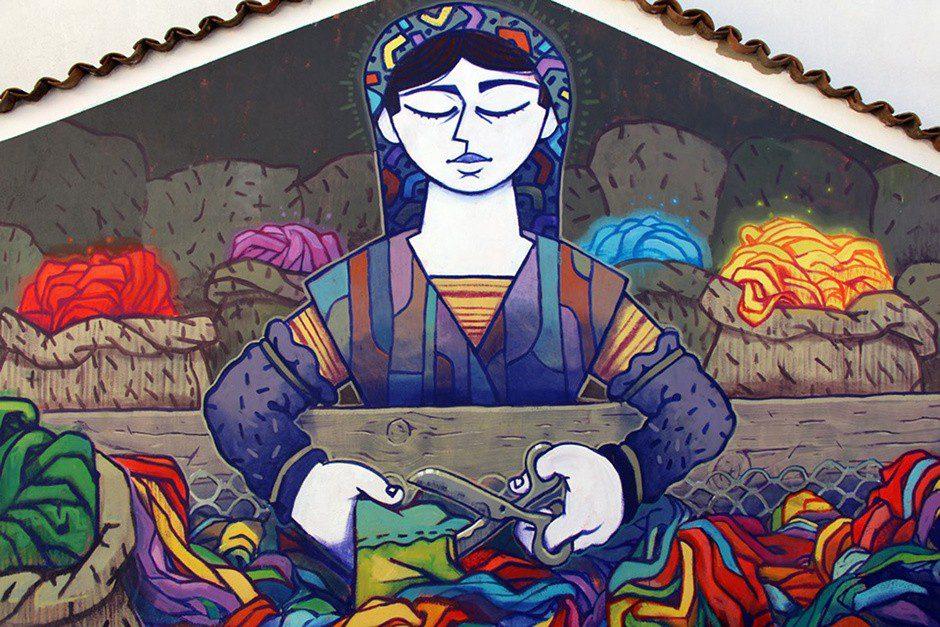 Истории населенных пунктов региона Галисия находят отражение в уличном искусстве