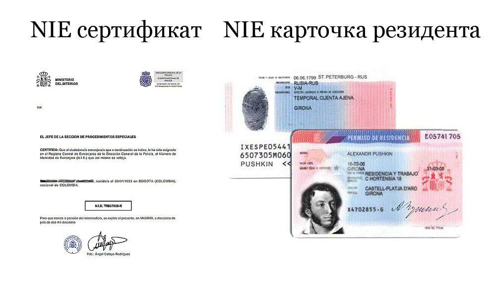 NIE — идентификационный номер иностранца