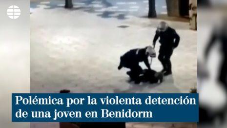 Испанские полицейские применили силу за отсутствие маски