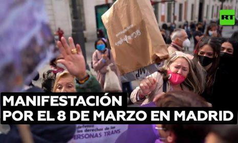 В Мадриде на феминистской демонстрации не обошлось без потасовки
