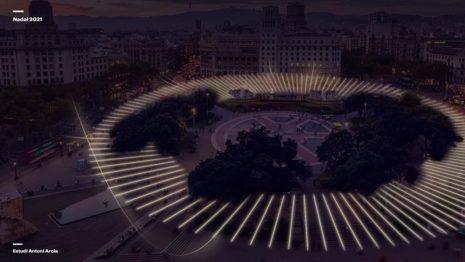 Барселона представила новогоднюю иллюминацию 2021 года