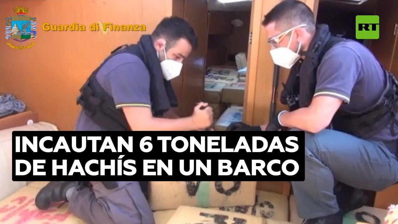 Национальная полиция Испании: задержана яхту с шестью тоннами гашиша