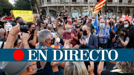 Испания. Барселона. Старт акции против задержания Пучдемона